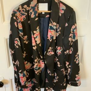Anthropologie Floral Multi color Blazer; Size M